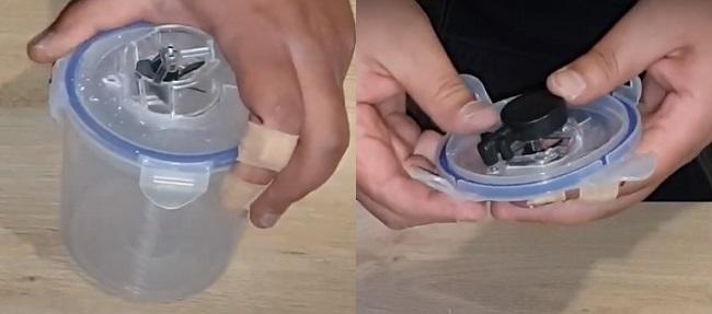 Drill a hole for air tube & attach bubbler