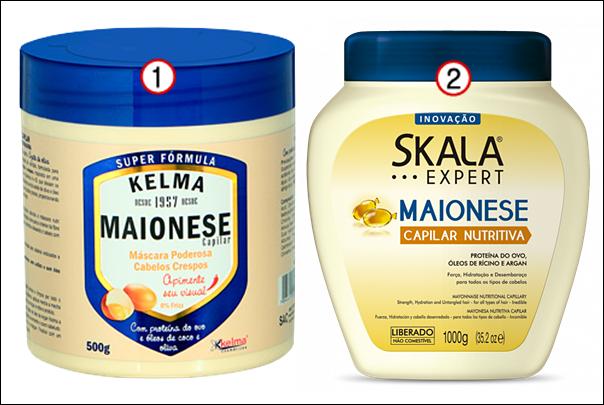 Produtos de cabelo inspirados em comida maionese capilar kelma skala