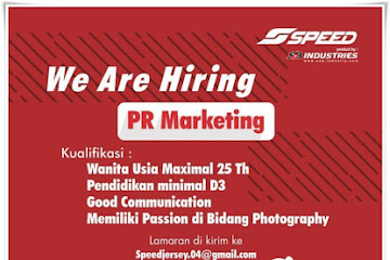 Lowongan Kerja PR Marketing Speed Industries
