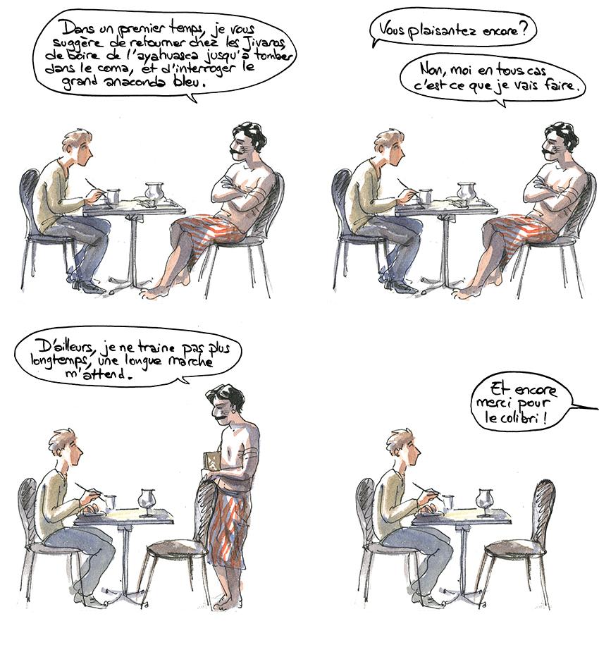 Proust va prendre de l'ayahuasca chez les Jivaros