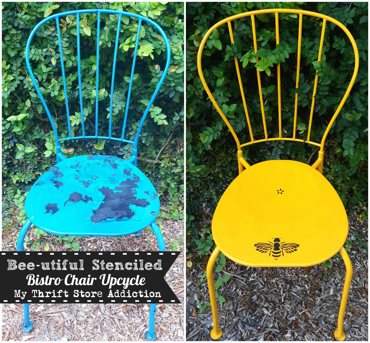 Beautiful bistro chair upcycle