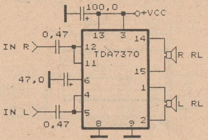 4 2ohm Speaker Wiring Diagram Schematic Power Amplifier With Ic Tda7370 Electronic Circuit