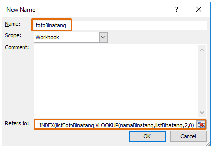 Cara Define Name untuk Data Validation di Excel