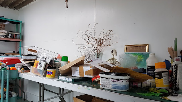 Carmen Wing: Whoopidooings: What's on your Workdesk Wednesday. Studio space.