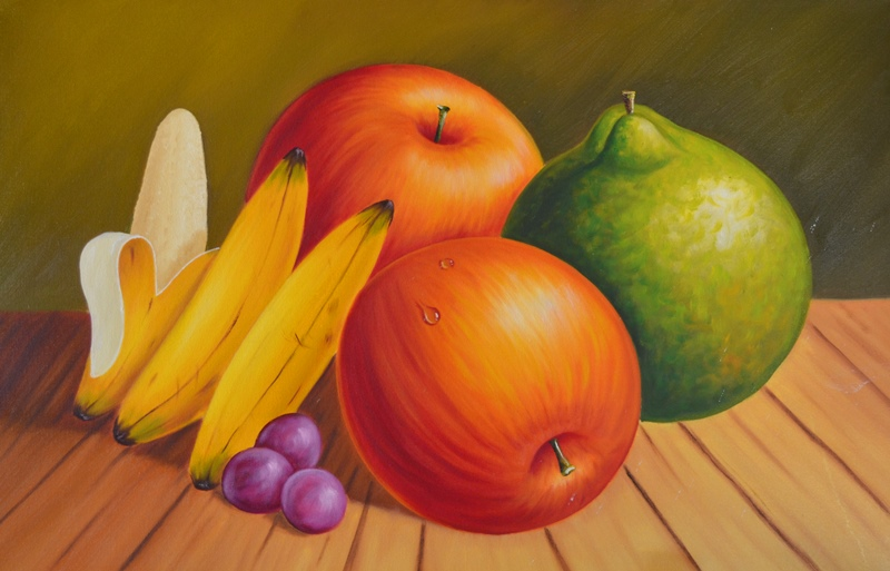 Dibujos Para Colorear Bodegones: Un Bodegon De Frutas Facil De Dibujar