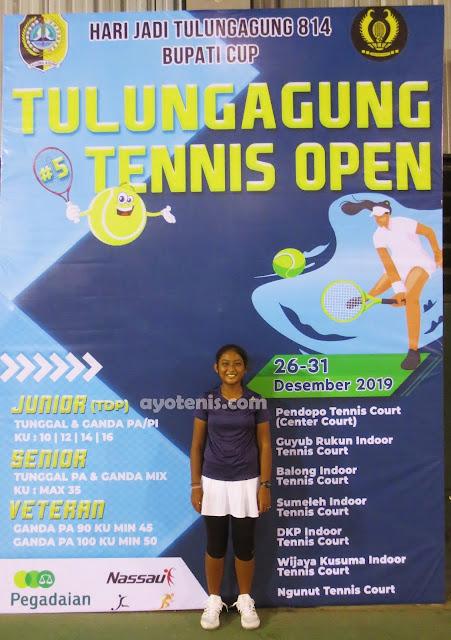 Kejurnas Tenis Yunior Piala Bupati Tulungagung: Libas Unggulan Keempat, Chantika Dinda Melaju ke Final