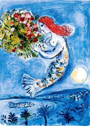 Chagall : La Baie des Anges  NIce sirène