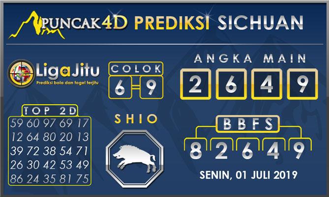 PREDIKSI TOGEL SICHUAN PUNCAK4D 01 JULI 2019