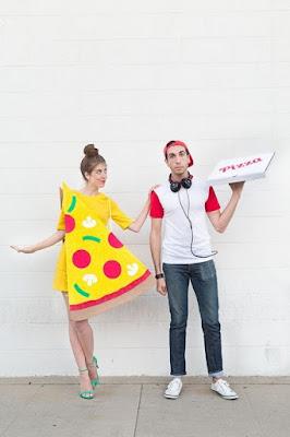 Fantasia , fantasia, folia, carnaval, casal , diy, folia, pizza e entregador de pizza