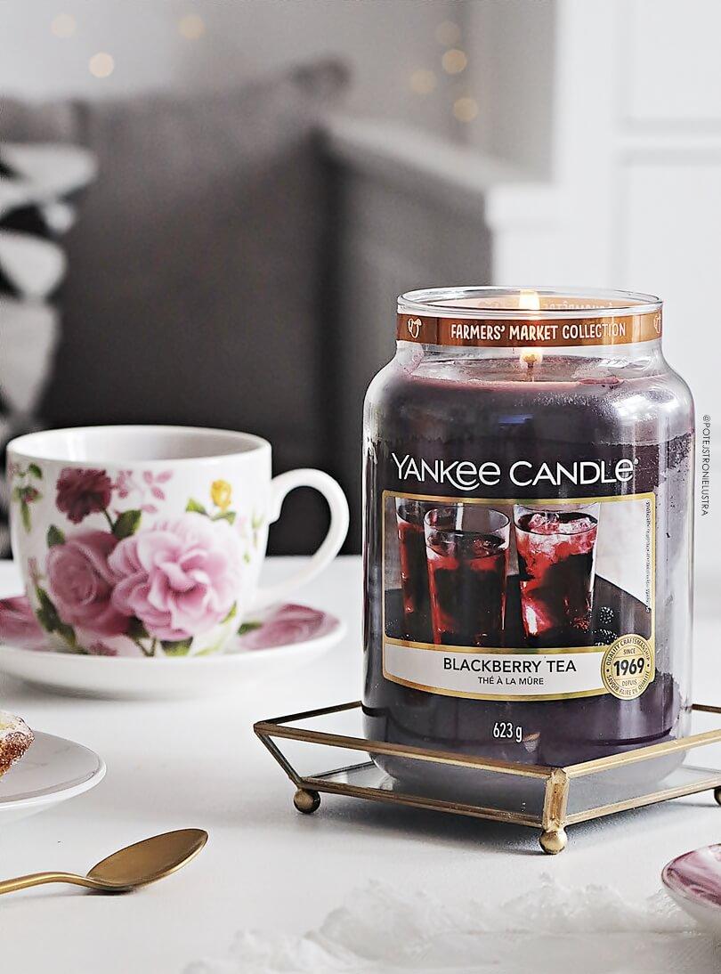 świeca yankee candle blackberry tea nowość 2019