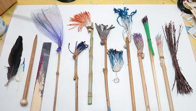 handmade brushes Judith Hoffman