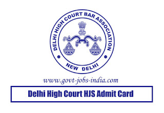 Delhi High Court HJS Admit Card 2019