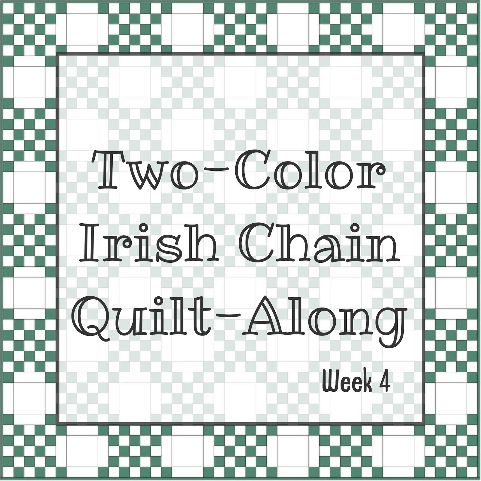 Two Color Irish Chain Quilt Along Week 4 A Little Bit Biased