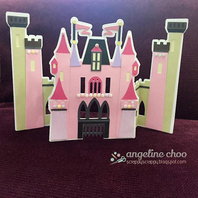 ScrappyScrappy: SVG Attic Birthday Bash Blog Hop - Castle card and Crown #scrappyscrappy #svgattic #castle #princess #tiara #crown #party #card #svg #cutfile #papercraft