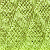 Learn Moss Diamond and Lozenge Knit Purl Pattern with our easy to follow instructions at HandKnittingStitches.com