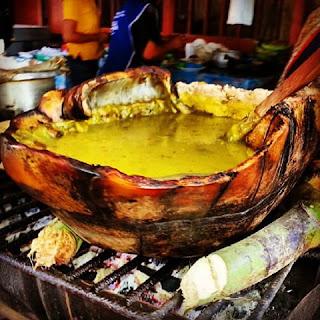 Sopa Saparatera o Zarapa, gastronomía de la selva, comidas curiosas de la selva