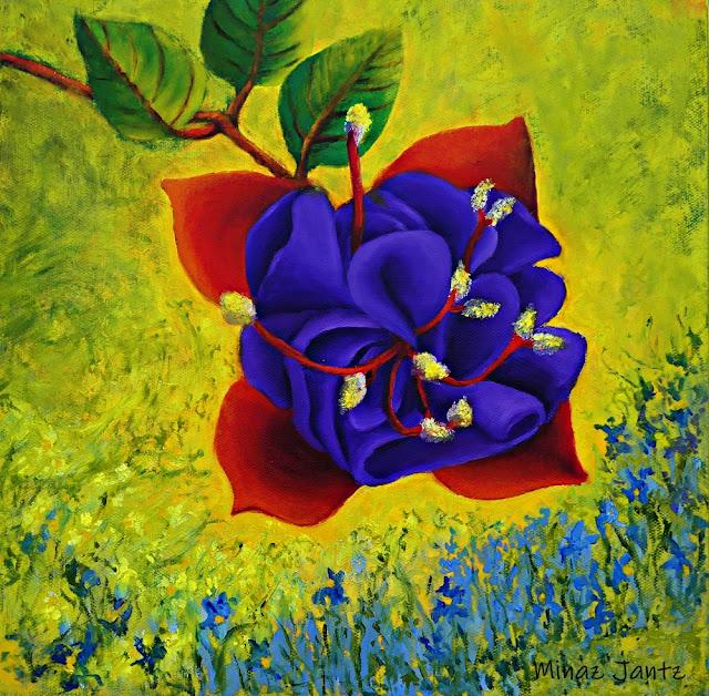 Fuchsia Illumination by Minaz Jantz (Oil)