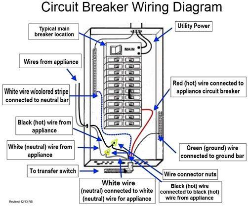 Circuit Diagram of a Circuit Breaker  Electrical