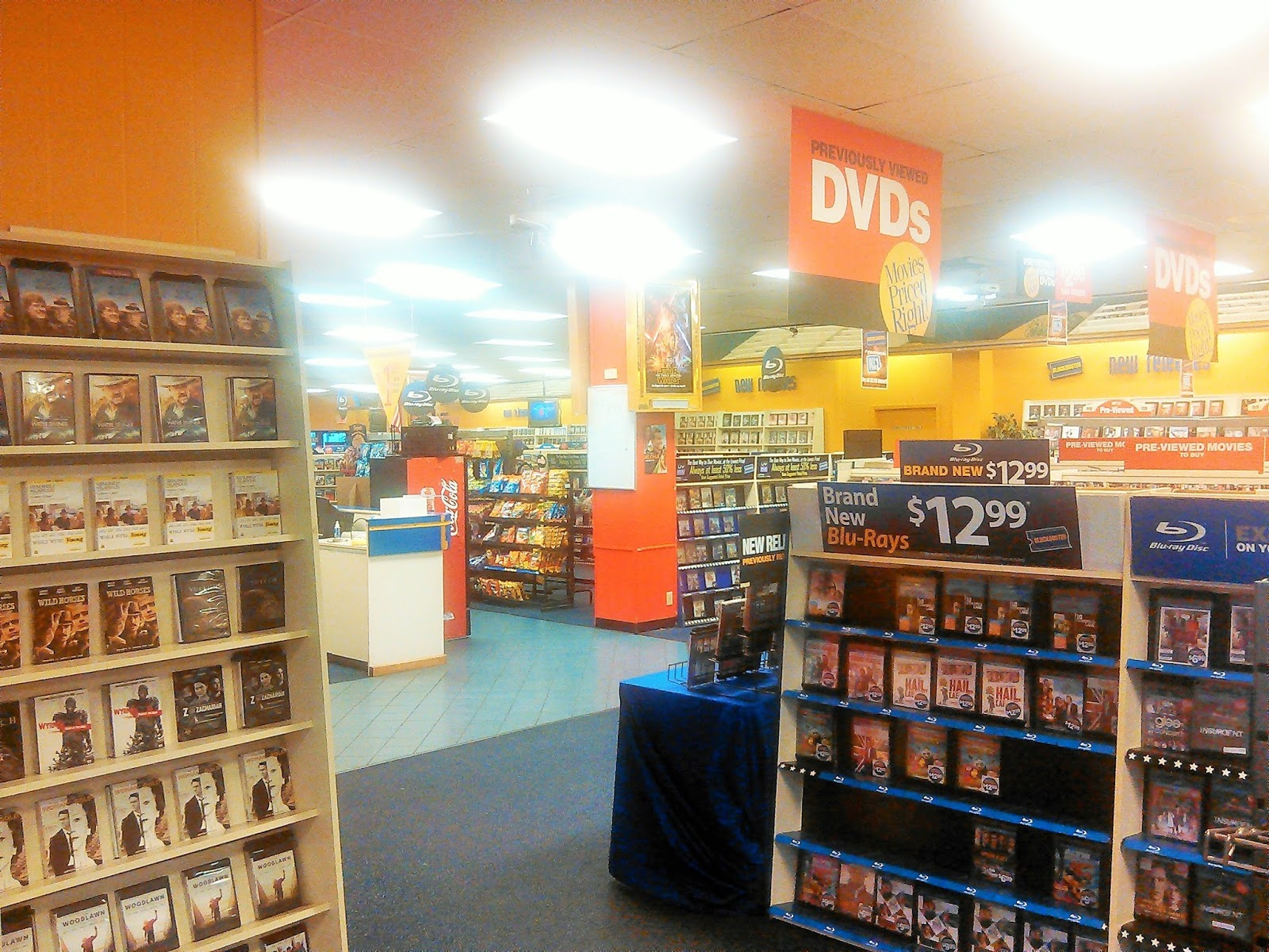 Movie rental blockbuster video
