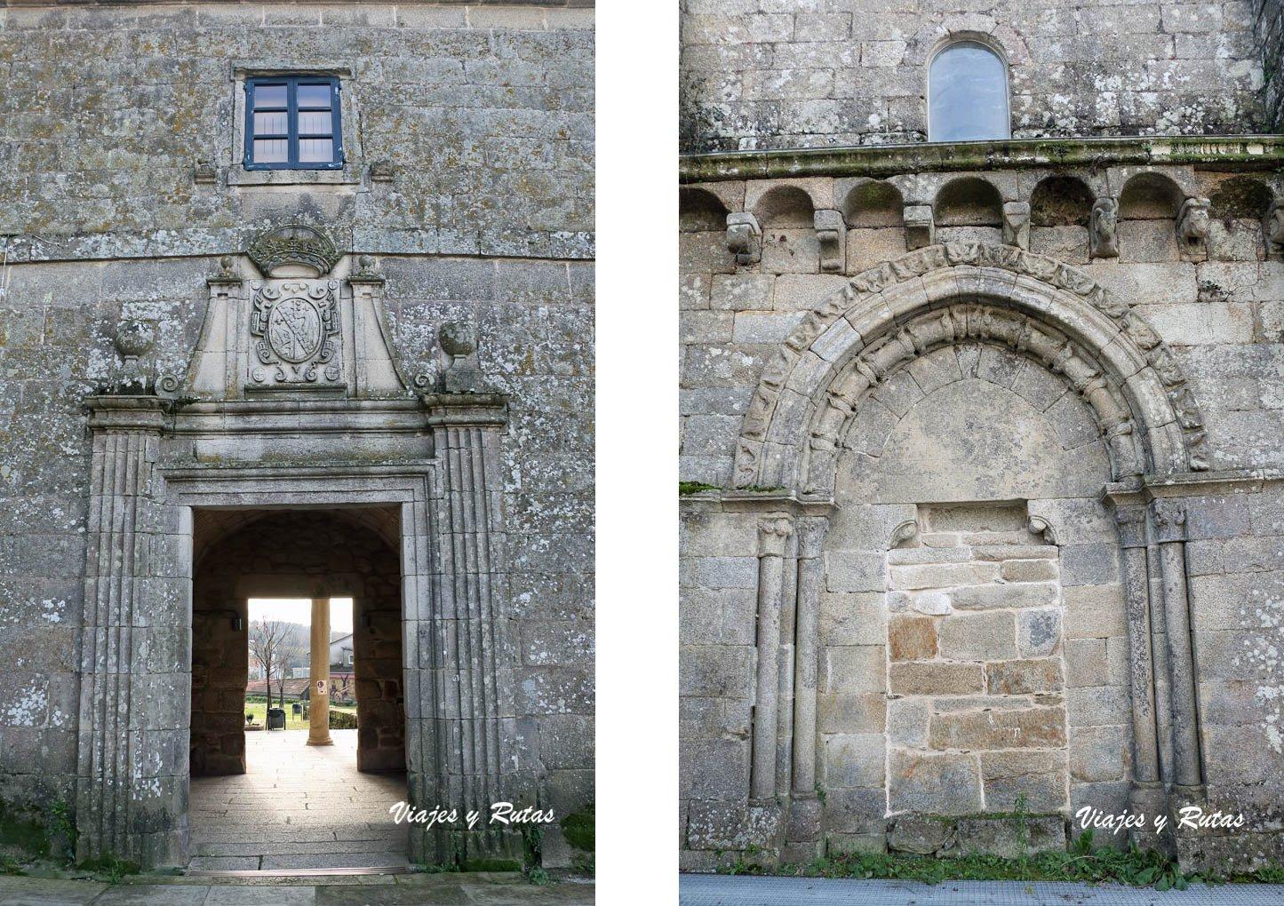 Portería y portada del Monasterio de Xunqueira de Espadanedo