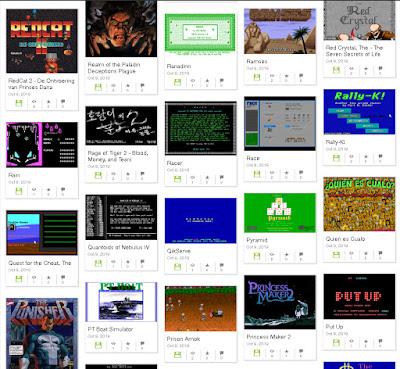 Colección de juegos MS-DOS en archive.org