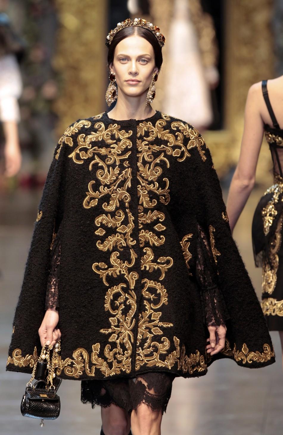 2012 Fall 2013 Winter Nail Polish Trends: EVERYDAY IS A CATWALK: Dolce & Gabbana, Milan Fashion Week