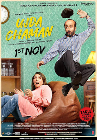 Poster Of Bollywood Movie Ujda Chaman 2019 300MB Pdvd Full Hindi Movie