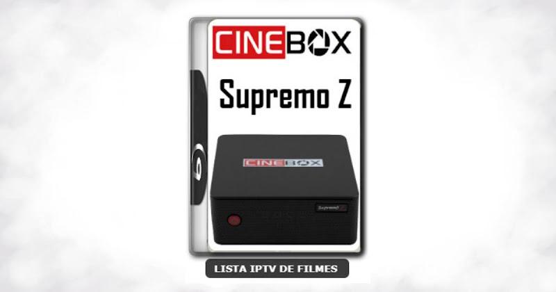 Cinebox Supremo Z nova atualização com ajuste no sks
