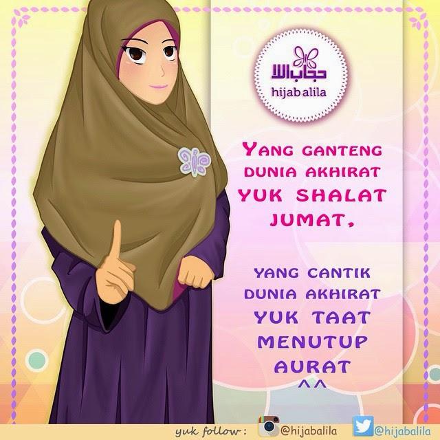 pict animasi hijab alila kartun