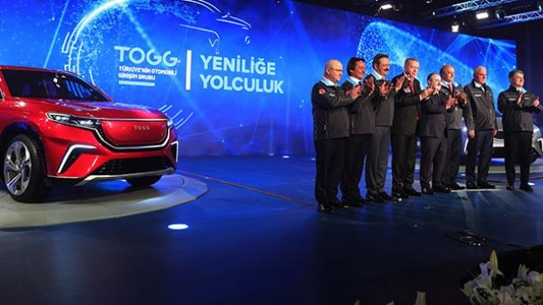 Turkey's first domestic car TOGG widely covered in the world media