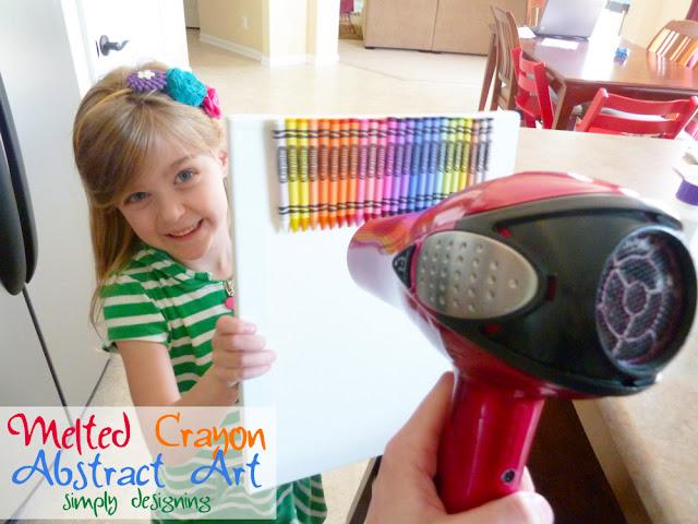 crayon art Melted Crayon Abstract Art 16