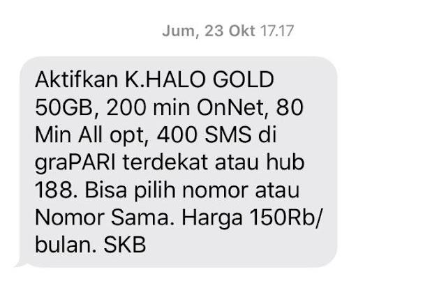 Paket Kartu Halo Gold