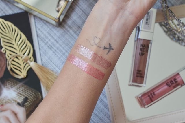 Блески  Make up factory High shine lip gloss 14 Rosy glint, 20 Pink Glaze