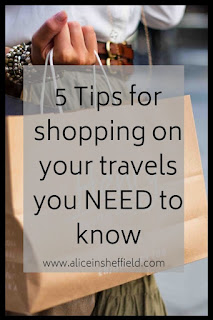 Shopping on your travels