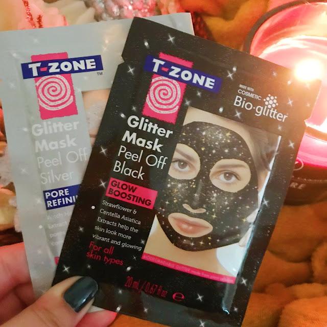 T-Zone glitter face masks