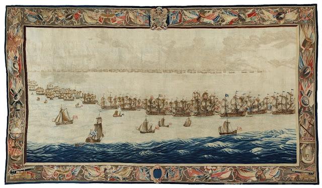 The Fleets drawn up for Battle Design Willem van de Velde The Elder