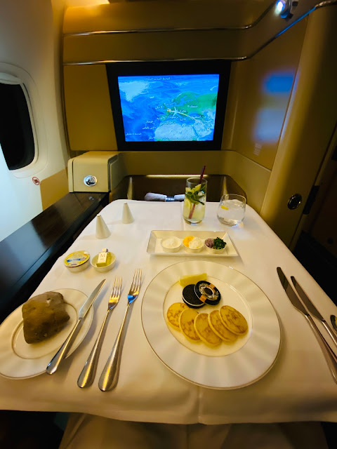 Review: Etihad EY38 First Class Boeing 777-300ER Paris Charles de Gualle (CDG) to Abu Dhabi (AUH)
