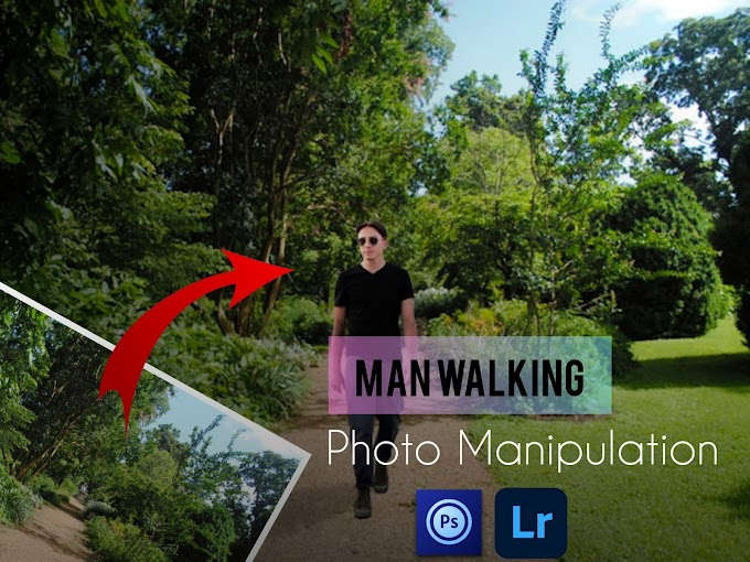 Man Photo Manipulation Editing Concept Using Smartphone