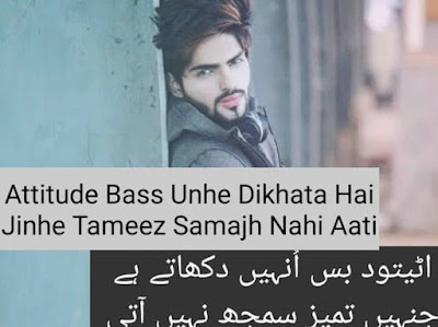 2 Line Attitude quotes in urdu