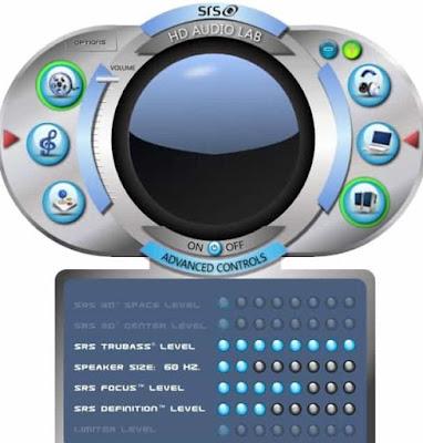 برنامج SRS HD Audio Lab لرفع صوت الاغانى على الكمبيوتر