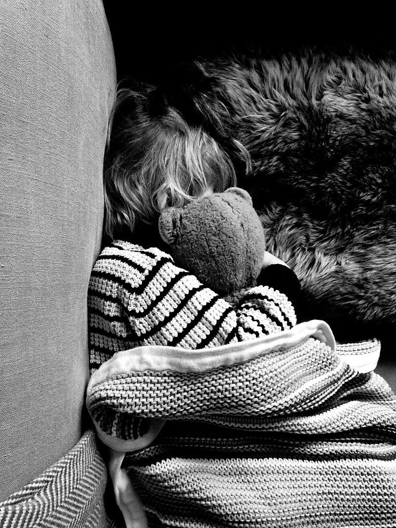 Poorly boy and blankets with his teddy
