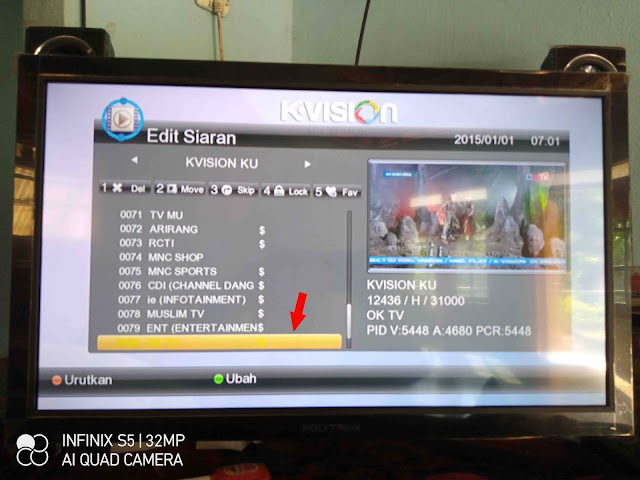 Cara Menyusun Siaran TV K-Vision G-88HD Ottimo 01