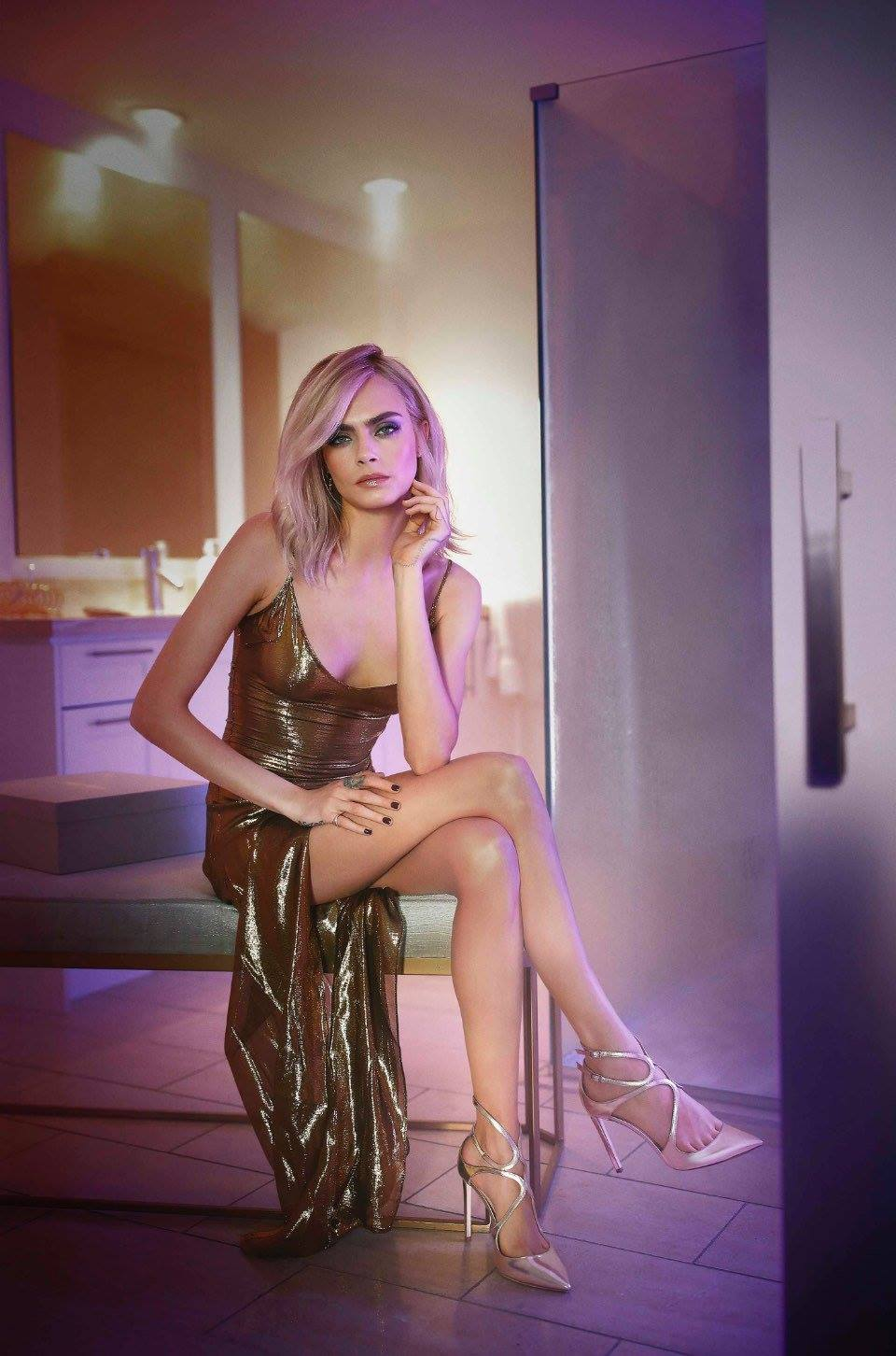 Jimmy Choo | 'Shimmer in the Dark' Campaign featuring Cara Delevingne
