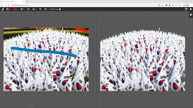[ Enumcut ] Taegukgi(The flag of South Korea) Photo - Remove Background From Image  (Example)