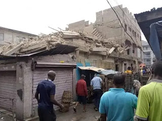 Two dead, 5 trapped as 3 storey building collapses in Abia