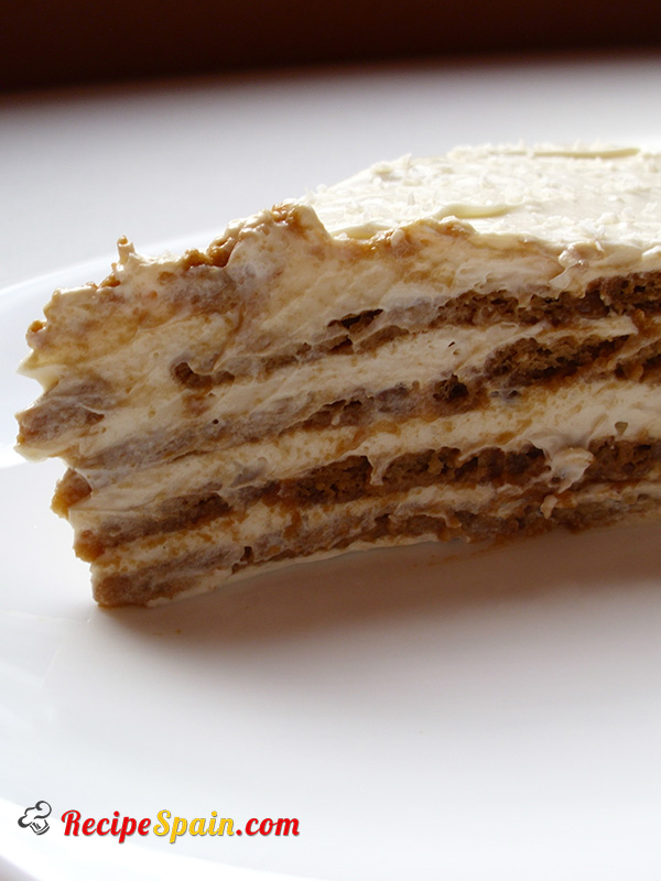 Delicious coffee and cookie dessert-cake