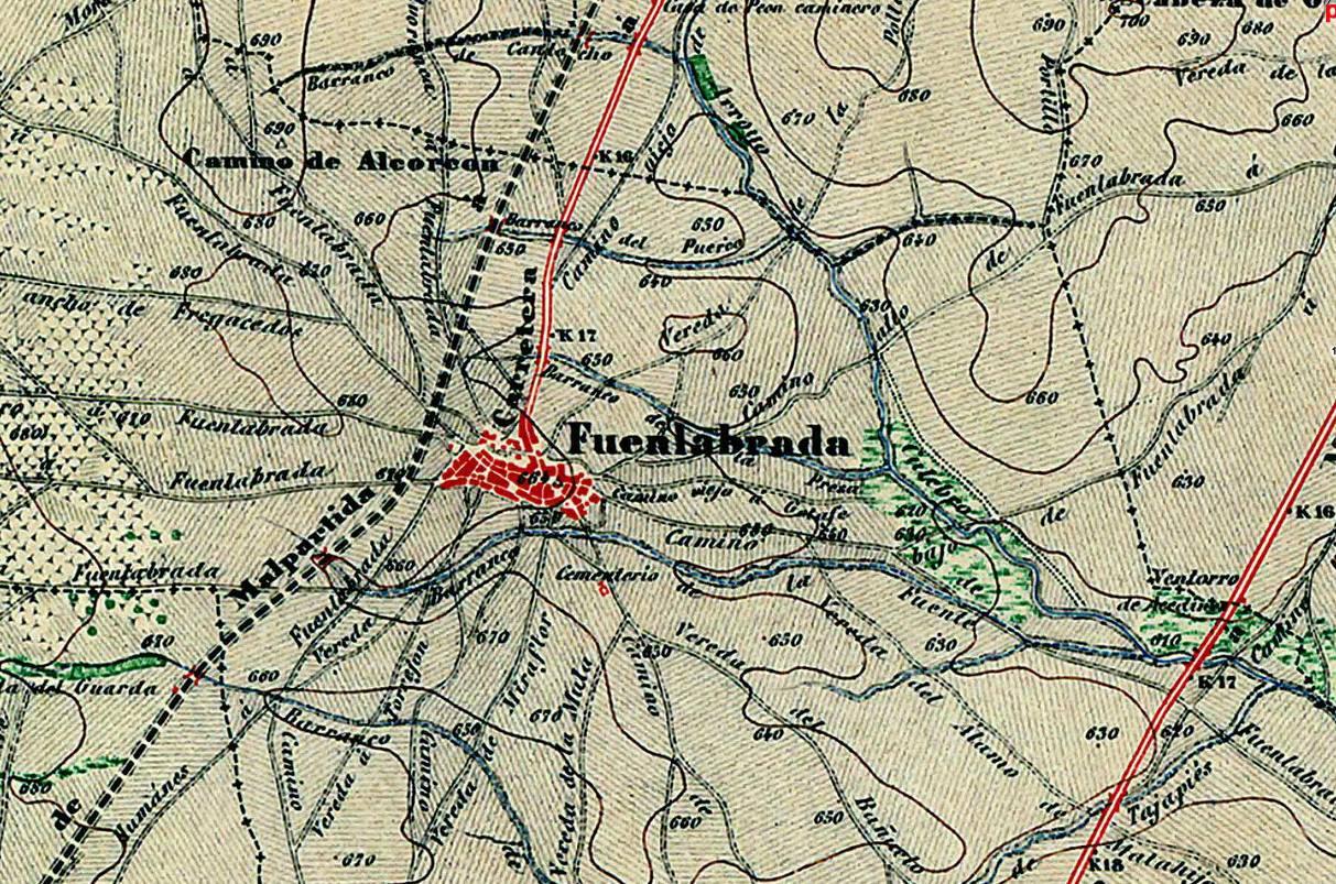 Memorias De Fuenlabrada Mapa De Fuenlabrada En 1875