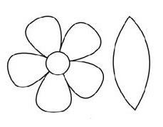 Шаблон, цветок, аппликация