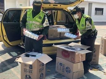 Contrabando de cigarrillos se incautó en Valledupar
