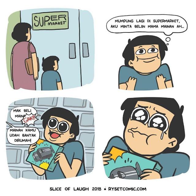 13 Komik Lucu Kehidupan Anak Kecil Sebelum Ada Gadget, Seru!